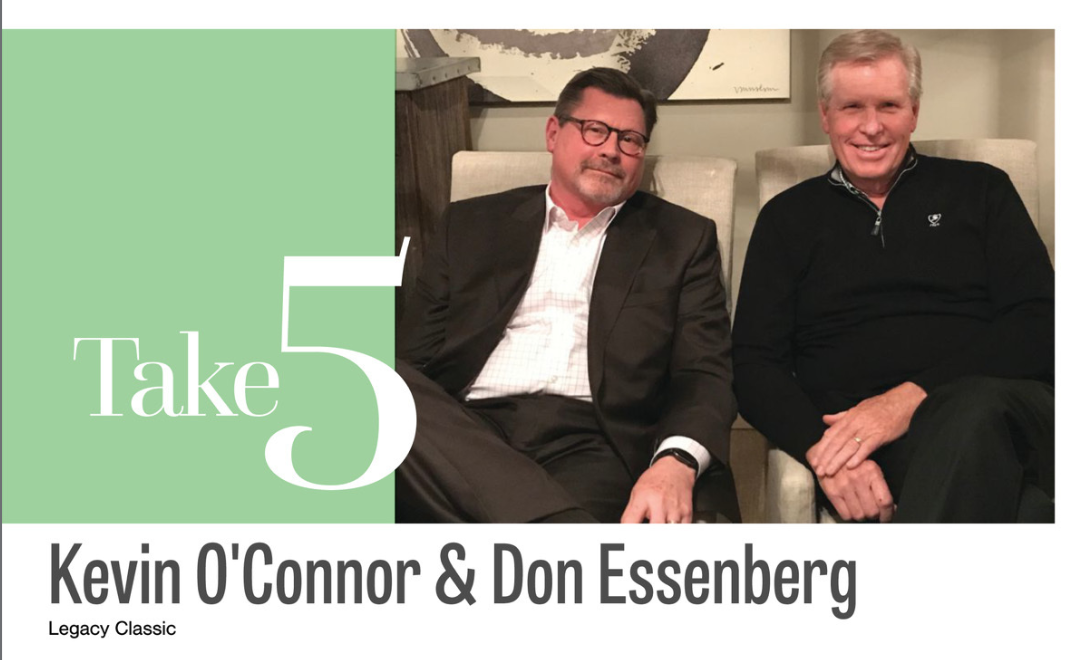 Take 5: Kevin O'Connor & Don Essenberg, Legacy Classic